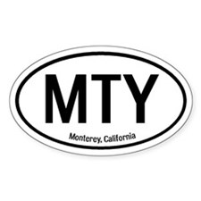 Monterey, California Oval Decal