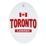 Toronto Canada Oval Ornament