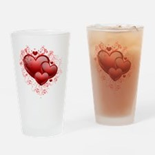 Floral Hearts Drinking Glass
