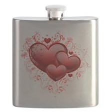 Floral Hearts Flask