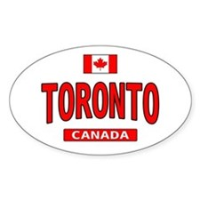 Toronto Canada Oval Decal