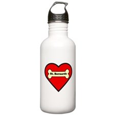 St. Bernards Heart Water Bottle