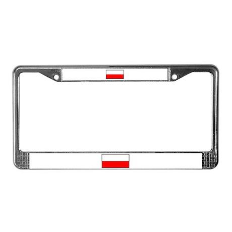 Flag of Poland License Plate Frame