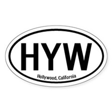 Hollywood, California Oval Decal