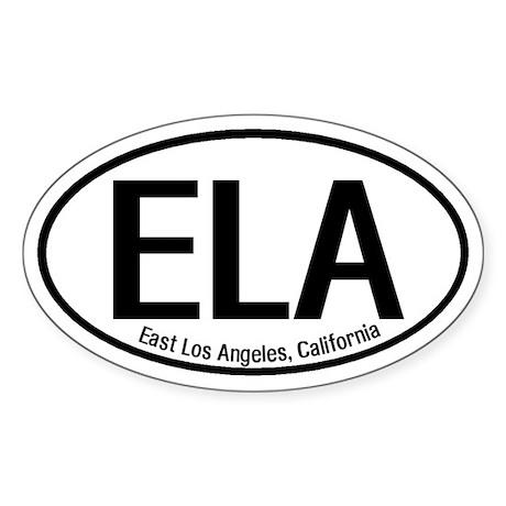 East Los Angeles, California Oval Sticker