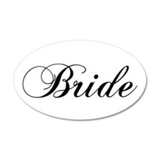 Bride1.png 20x12 Oval Wall Decal