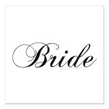 "Bride1.png Square Car Magnet 3"" X 3"""