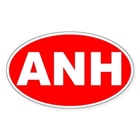Anaheim, California Oval Sticker
