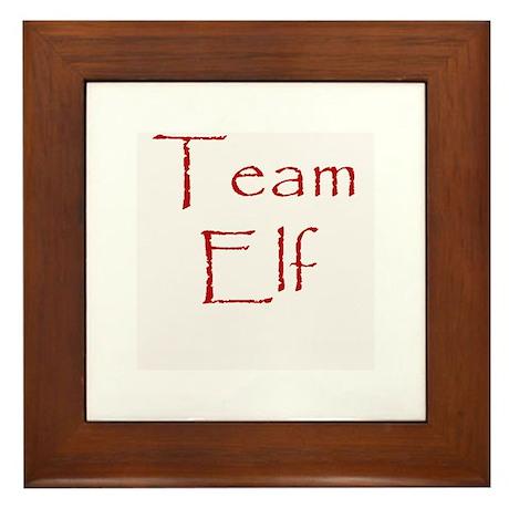 Team Elf Framed Tile
