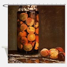 Peaches by Monet Shower Curtain