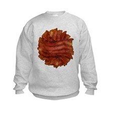 Yummy Delicious Cooked Bacon Pile Sweatshirt