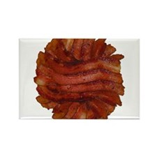 Yummy Delicious Cooked Bacon Pile Rectangle Magnet