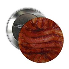 "Yummy Delicious Cooked Bacon Pile 2.25"" Button"