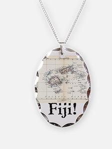 Fiji Map Necklace