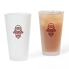 Fire Red Hamsa Drinking Glass