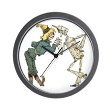 Oz Scarecrow and Tin Woodman Wall Clock