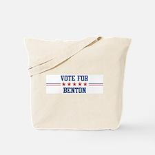 Vote for BENTON Tote Bag