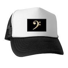 """Gold"" Bass Clef Trucker Hat"
