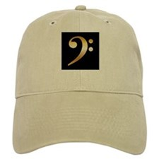 """Gold"" Bass Clef Baseball Cap"