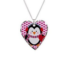 Valentines Day Penguin Necklace