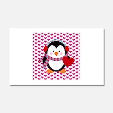 Valentines Day Penguin Car Magnet 20 x 12