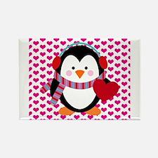 Valentines Day Penguin Rectangle Magnet