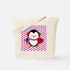 Valentines Day Penguin Tote Bag