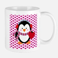 Valentines Day Penguin Mug