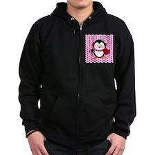 Valentines Day Penguin Zip Hoody