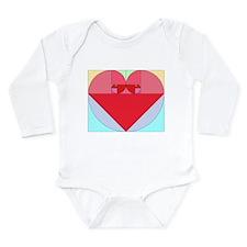 Golden Ratio heart Long Sleeve Infant Bodysuit