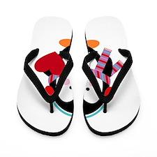 Cute Cartoon Penguin Flip Flops