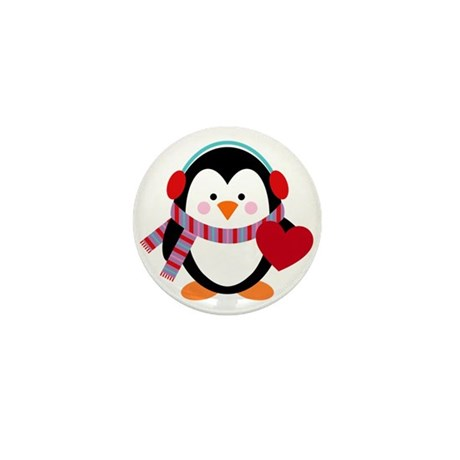 Cute Cartoon Penguin Mini Button (100 pack)