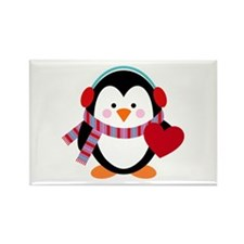 Cute Cartoon Penguin Rectangle Magnet