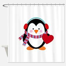 Cute Cartoon Penguin Shower Curtain