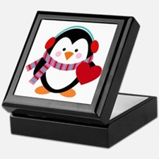 Cute Cartoon Penguin Keepsake Box