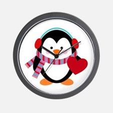 Cute Cartoon Penguin Wall Clock
