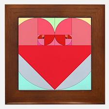 Golden Ratio Heart Framed Tile
