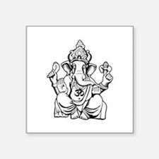 "Lord Ganesha Lines Square Sticker 3"" x 3"""