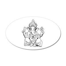 Lord Ganesha Lines Wall Decal