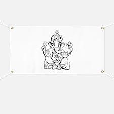 Lord Ganesha Lines Banner