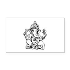 Lord Ganesha Lines Rectangle Car Magnet