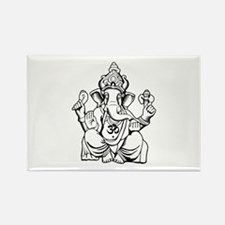 Lord Ganesha Lines Rectangle Magnet (100 pack)