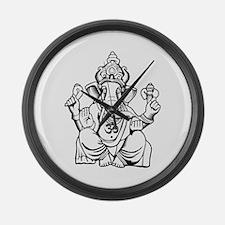 Lord Ganesha Lines Large Wall Clock