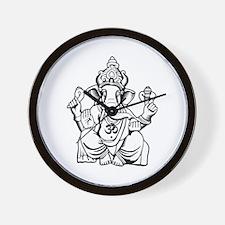 Lord Ganesha Lines Wall Clock