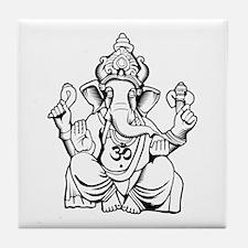 Lord Ganesha Lines Tile Coaster