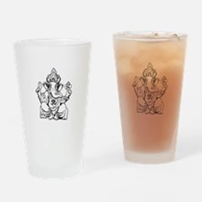 Lord Ganesha Lines Drinking Glass