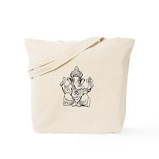 Lord Ganesha Lines Tote Bag