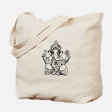 Lord Ganesha Lines Tote Bag