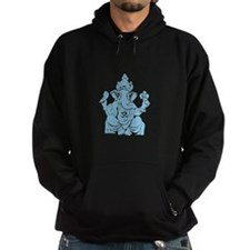 Lord Ganesha Bleu Fill Hoodie
