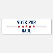 Vote for RAUL Bumper Bumper Bumper Sticker